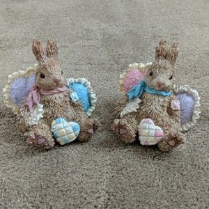 Bunny figurines - set of two